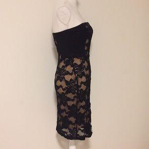 Rebecca Taylor Dresses - Rebecca Taylor Strapless Blk/Nude Lace Dress!!